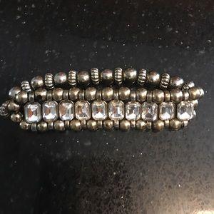 Jewelry - Crystal silver beads bracelet